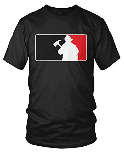 Amdesco Men's Firefighter Silhouette Emblem, Fire Fighter T-shirt, Black (Fire Ems Apparel)