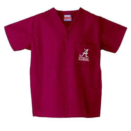 Alabama Scrubs (Alabama Crimson Tide NCAA Classic Scrub 1 Pocket Top (Crimson))