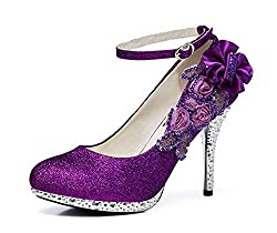Women's Sequins Closed Toes Wedding Shoes