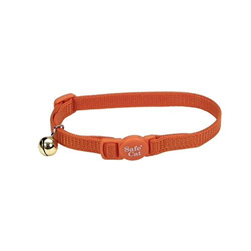 Coastal Pet Products Nylon Safe Cat Adjustable Breakaway Collar with Bells, (adjustable, Orange)