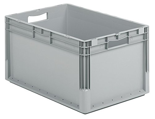 (Solid Wall Stacking Cntner, 24x16x13, Gray)