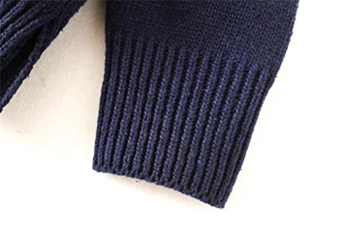 DIKEWANG - Cartera de mano de Algodón para mujer marrón marrón Talla única azul marino