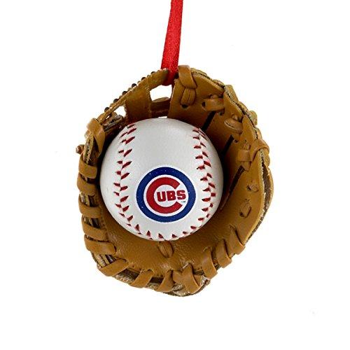 Kurt Adler 2 5  Cubs Baseball In Glove Ornament