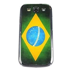 Vintage Brazil Flag Pattern PC Back Case for Samsung S3/I9300