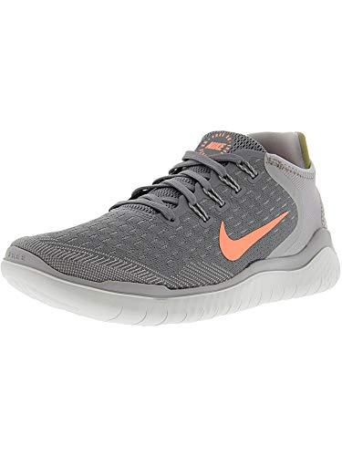 Nike Women's Free RN 2018 Running Shoe (7.5 B(M) US, Gunsmoke/Crimson Pulse/Atmosphere Grey) (Nike Free Tennis Shoes Women)