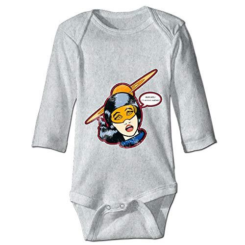 WilBstrn Unisex Baby Long-Sleeve Onesies I Hate Mondays Cotton Bodysuits ()