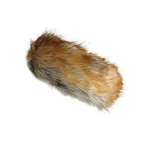(Fur Winter Faux Fox Raccoon Mink Fur Headwrap Headband Earwarmer Hat (Faux Red Fox))