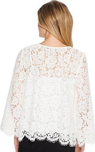 Karen Kane Women's Flare Sleeve Scallop Lace Top Off-White Small by Karen Kane (Image #2)