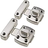 MATEE 2-Pack Zinc Alloy Thick Anti-theft Security Door Rotate Bolt Latch Slide Lock Size Small
