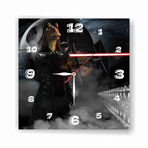 Star Wars - JAR JAR Binks 11.8'' Handmade Wall Clock - Get Unique décor for Home or Office - Best Gift Ideas for Kids, Friends, Parents and Your Soul Mates