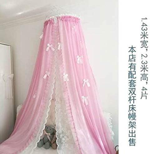 HOMEJYMADE フリンジ蚊帳 プリンセスベッドキャノピー バタフライ寝具 王冠 蚊 寝具装飾 2.0m ZPAKHO