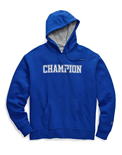 Champion Men's Powerblend Fleece Pullover Hoodie Logo, Surf The Web, S