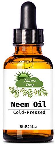 Nature Drop's Neem Oil - Nutrient Rich Oil For Hair, Skin & Nails - A Natural Beauty Treatment 1 fl oz ()