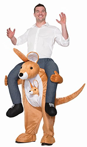 Easy Kangaroo Costume (Forum Men's Kangaroo Hop on Piggy Back Costume, Brown,)
