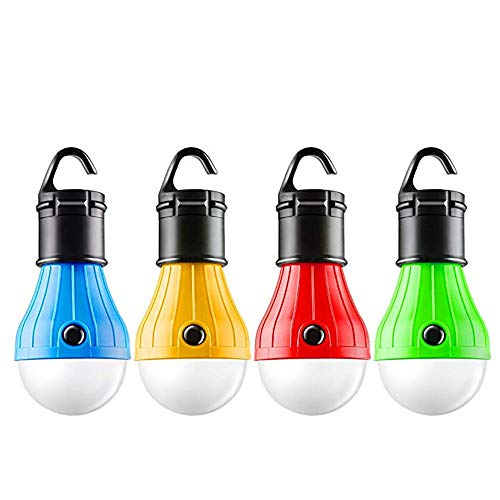 Shimigy 4Pcs Outdoor Portable Hanging LED Camping Tent Light Bulb Fishing Lantern Lamp