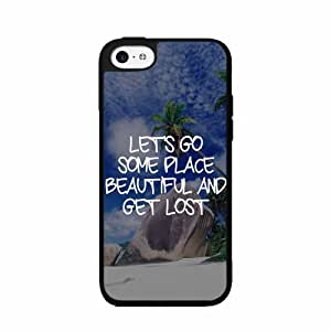 Lets Go Some Place Beautiful 2-Piece Dual Layer Phone Case Back Cover iPhone 5 5s