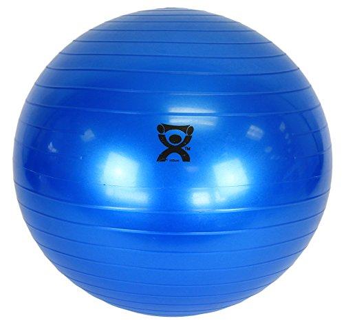CanDo Non-Slip Vinyl Inflatable Exercise Ball, Blue,