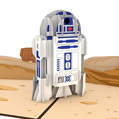 (Star Wars R2-D2 and Jawas Pop Up Card, 3D Card, Birthday Card, Greeting)