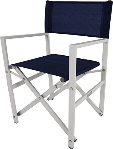 Vivere STUC-NS Directors Aluminum Folding Chair, Navy
