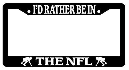(Dark Branches Car License Plate Cover,I'd Rather Be in The NFL Black License Plate Frame, Auto Car Accessories, 12x6 inches)