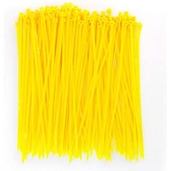 Wide 8 Inch 150 Pack Strong Yellow Color Heavy Duty Cable Zip Ties--Outdoor, Garden, Office, Festivals and Kitchen Use