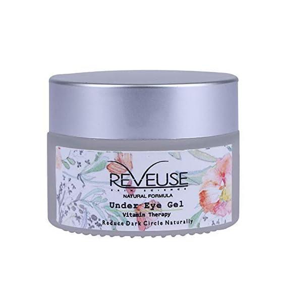 Reveuse Vitamin Therapy 30g Under Eye Gel for Dark Circles, Puffy Eyes, Anti-Wrinkles for Men and Women, Best Under Eye