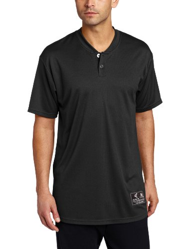 Easton Skinz 2 Button Placket Jersey, Black, Medium