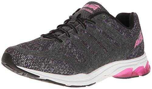 (Avia Women's AVI-Versa Sneaker, Iron Grey/Black/Pink Energy, 9 Medium)