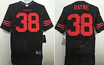 separation shoes 42aef 30501 Hayne Mens Black 49ers Jersey #38 - Small: Amazon.ca: Sports ...