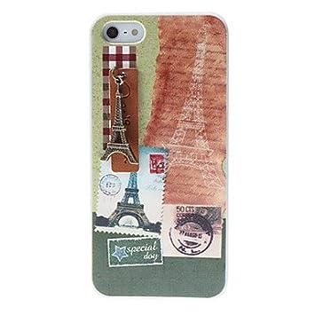 TY-Diseño Matasellos estilo fresco y Bronce Torre Eiffel cubiertos caso duro para el iPhone 5/5S: Amazon.es: Electrónica