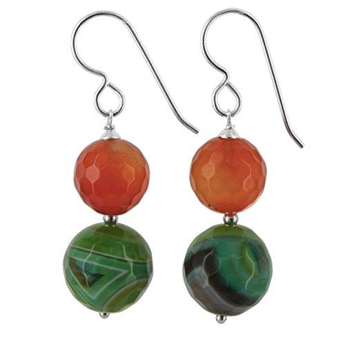 Orange Agate Earrings - 7