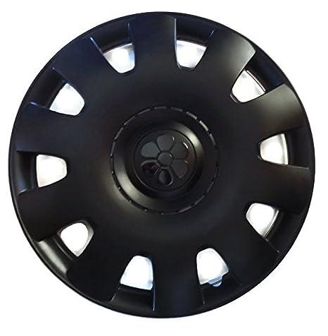 VW Beetle Tapa de buje 16 pulgadas Negro Centro de margaritas juego de 4: Amazon.es: Coche y moto