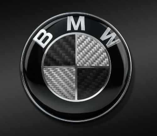 BMW REAL BLACK CARBON FIBER EMBLEM BADGE LOGO 82mm (Bmw Emblem E60)