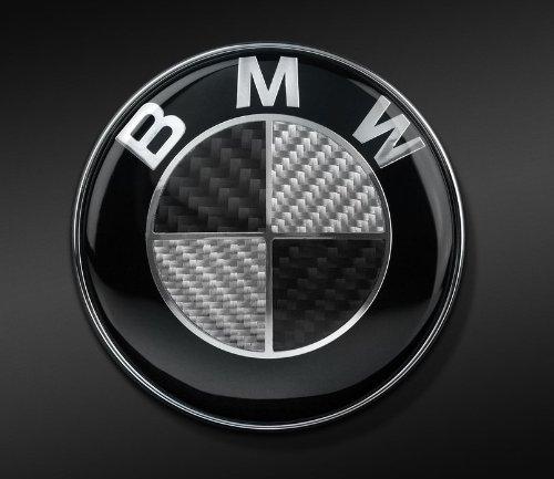 BMW REAL BLACK CARBON FIBER EMBLEM BADGE LOGO 82mm (Bmw Emblem E60)