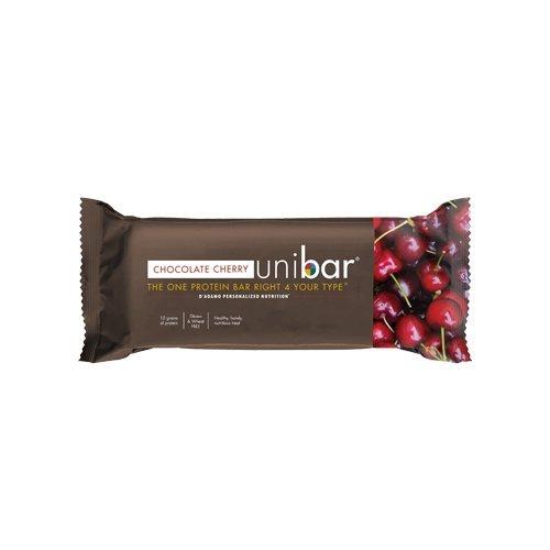 D'Adamo Blood Type Diet UniBar All Types Chocolate Cherry -- 12 Bars by D'Adamo