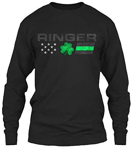 Ringer Family. XL - Black Long Sleeve Tshirt - Gildan 6.1oz Long Sleeve Tee