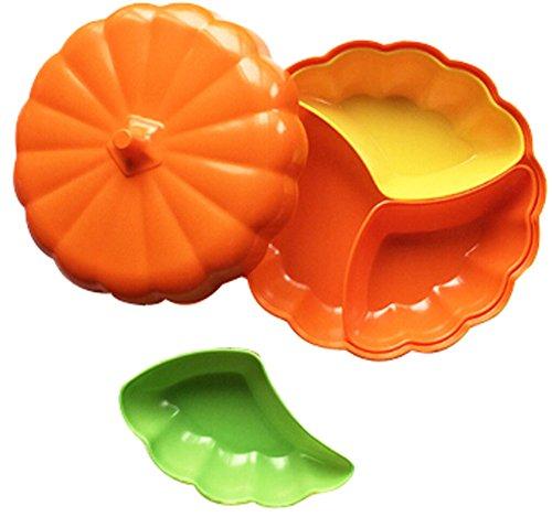 Multifunction Compote Fruit Bowl/Plates Dried Fruit Pierced Tray Pumpkin Orange