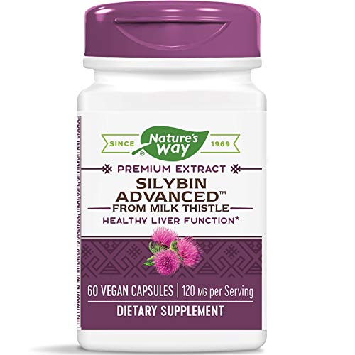 Nature's Way Silybin Advanced from Milk Thistle, 120 mg per Serving, 60 Vcaps (Packaging May Vary) (Enzymatic Therapy Milk Thistle)
