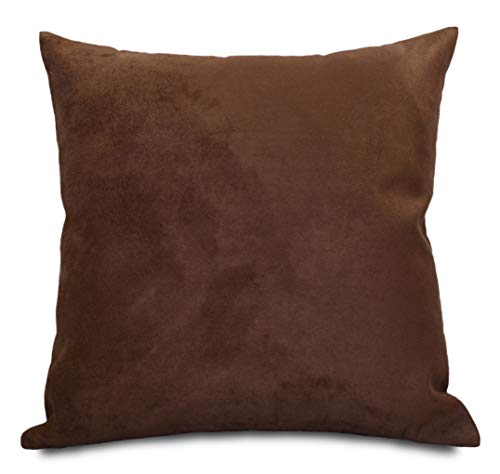 Aiking Home Collection Creative Luxury Faux Suede Pillow Cover/Euro Sham - 26 By 26 Brown