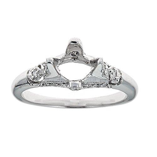 (D'amati Fine Jewelry Tacori Platinum & Diamond Engagement Ring)