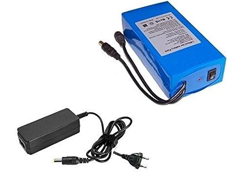 Batería 12 V 25000 mAh de litio recargable 25 amperios ...