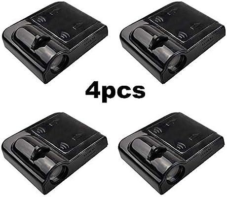 XFC-TYY, 4PCS LED inalámbrico puerta de coche Bienvenido proyector ...