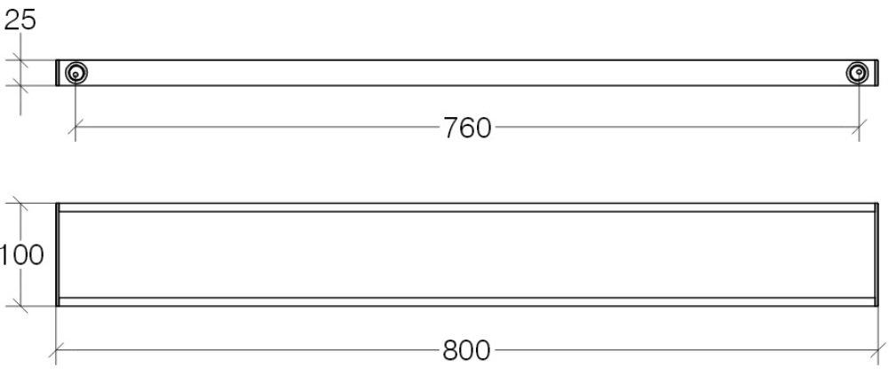 Cromo Lineabeta 5260.29 Porta Salviette 12 x 42 x 4 cm