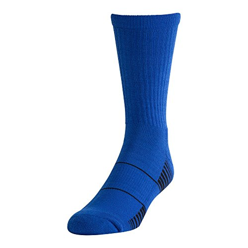 Under Armour Team Crew Socks (1 Pair), Royal/White, Youth Large