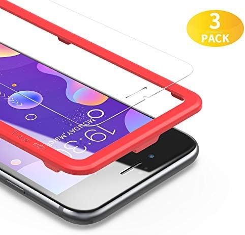 BANNIO Vetro Temperato per iPhone 7/iPhone 8/iPhone SE 2020,3 Pezzi Pellicola Protettiva per iPhone 7/iPhone 8/iPhone SE 2020,Protezione Schermo,Nessuna Bolla,Anti-Impronte,Trasparente