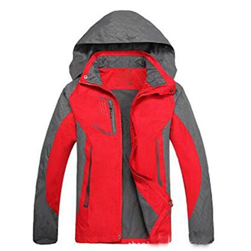 Gran Tamaño Correa Señora Fina Outdoor De Chaquetas Mountaineering Windproof De Impermeable Rojo Sportswear YvpxwPO