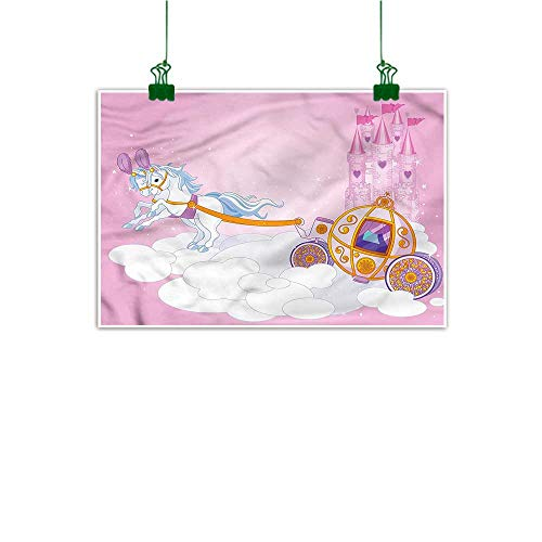 tickers for Wall Princess Hand Painted Fairy Tale Carriage in Sky 24