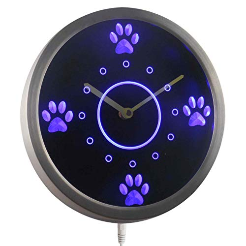 (ADVPRO nc0991-b Cute Dog Paws Pet Grooming Neon Sign LED Wall)
