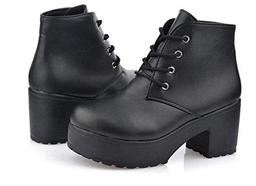 Talon Xdgg Chaussures Etanchéité Artificielle Simple Printemps Nouveau Black Femmes Pu WFWqOR