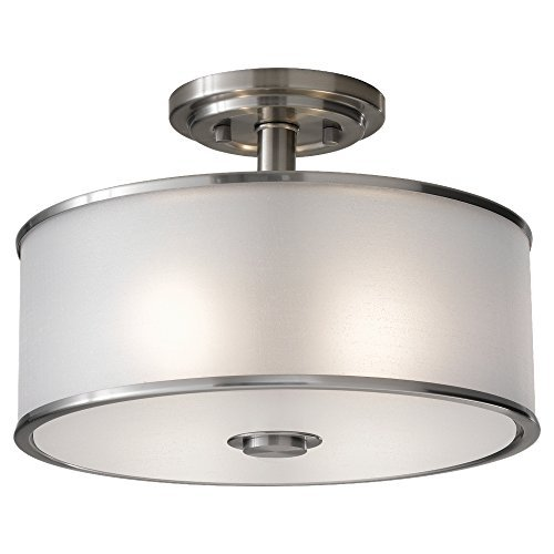 Murray Feiss SF251BS Casual Luxury 2 Light Indoor Semi-Flush Mount, Brushed Steel by Murray Feiss